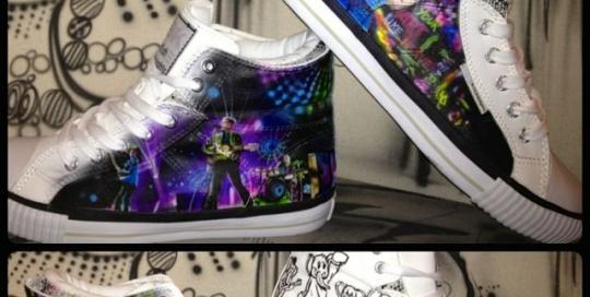 Airbrush Design auf BK Schuhe