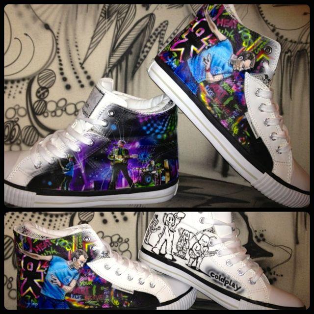 Airbrush Design auf BK Schuhe dac