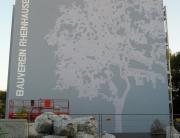 Graffiti Fassadengestaltung eines Wohnhauses