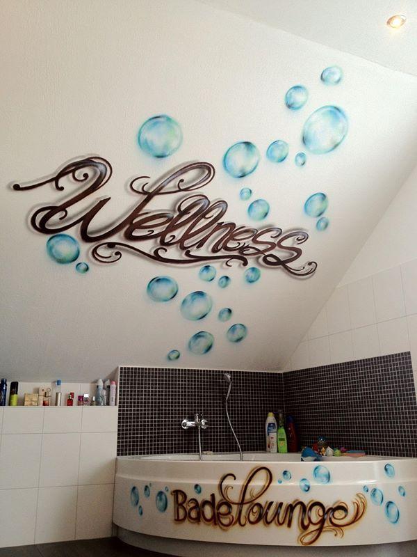 Graffiti / Airbrush Wandgestaltung eines Badezimmers