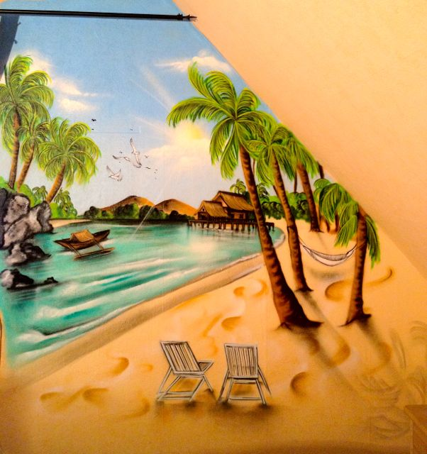 Graffiti / Airbrush Wandgestaltung Strandmotiv
