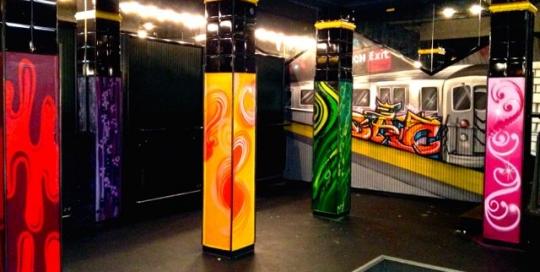 Graffiti / Airbrush Gestaltung eines Raumes in der Diskothek Himmerich